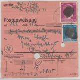 Mi.- Nr.: AP 791 I + AP 795 I als MiF auf Zahlkartenstammteil für einen Betrag von Neukirchen nach Chemnitz