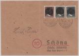 Mi.- Nr.: AP 781 II (2x) + AP 787 II als MiF auf Fernbrief von ... über Bad Schandau nach Schönau