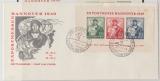 Bizone, 1949, Mi.- Nr.: Bl. 1 auf FDC, K.- Befund Schlegel BPP echt ...