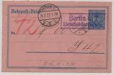 Infla / Weimar, 1927, Mi.- Nr.: RU 11, gelaufen (unbeanstandet!) 1927 per Rohrpost innerhalb Berlin´s