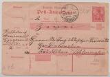 Germania (Reichspost!), 1920, Postanweisungs- GS (Mi.- Nr.: A 13) verwendet 1920, für einen Betrag von Berlin nach Lobenstein