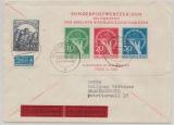 Berlin, 1949, Block 1 III, in MiF auf Eilboten- Fernbrief von Lorch nach Braunschweig, aktuelles Fotoattest H.- D. Schlegel