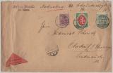 Marienwerder, 13.9.1920, DR- Marken + Mi.- Nr.: 1 in MiF auf Nachnahme- Fernbrief von Deutsch Eylau nach Ohrdruf