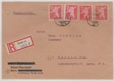 Berlin / BRB, Mi.- Nr.: 5 B u.a. als MiF auf Einschreiben- Ortsbrief innerhalb Berlin´s, K.- Befund Dr. Jasch BPP