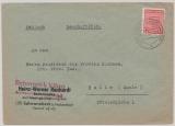 SBZ, Mi.- Nr.: 71 XD  (Postmeistertrennung!) als EF auf Fernbrief von Schwanebeck nach Halle, tiefgeprüft Dr. Jasch BPP!
