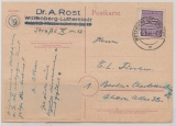 SBZ, Mi.- Nr.: 69XAb  (Postmeistertrennung!) als EF auf Fernkarte von Wittenberg nach Berlin, tiefgeprüft Dr. Jasch BPP!