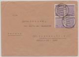 SBZ, Mi.- Nr.: 69XAa (4x)  (Postmeistertrennung!) als MeF auf Fernbrief von Piesteritz nach Grebenstein, geprüft Dr. Jasch BPP!