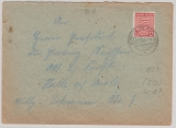 SBZ, Mi.- Nr.: 71 XA (Postmeistertrennung!) als EF auf Fernbrief von Bergwitz nach Halle, tiefgeprüft Dr. Jasch BPP!