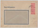SBZ, Mi.- Nr.: 71 XA (2x) (Postmeistertrennung!) als MeF auf Fensterbrief von Naundorf nach ??, tiefgeprüft Dr. Jasch BPP!