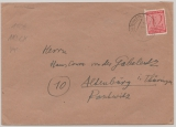 SBZ, Mi.- Nr.: 119 XC (Postmeistertrennung!) als EF auf Fernbrief von Tautenhain nach Altenburg, tiefgeprüft Zierer BPP!