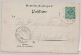 DR, 1899, 5 Pfg. - Bildpostkarten- GS (Oliva) von ... Danzig (Bahnpost) nach Neustadt (Westpreussen), Sehr selten!