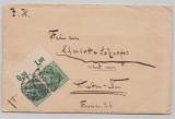DR, 1915, Mi.- Nr.: 85 I POR (2x) als MeF auf Fernbrief von Misdroy nach Dresden