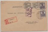 Germania / Infla, 1919, Mi.- Nr.: 98 (2x) + 101 (2x), in MiF auf Einschreiben- Fernbrief von Coblenz nach Berlin, mit Zensur!