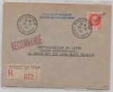 Dt. Bes. Frankreich, Saint Nazaire, 1945, Teilbarfrankatur auf Einschreiben, (II. Portoperiode), selten!