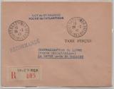 Dt. Bes. Frankreich, Saint Nazaire, 1945, Barfrankatur auf Einschreiben, (I. Portoperiode), selten!