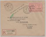 Dt. Bes. Frankreich, Saint Nazaire, 1945, Vignette auf Einschreiben, (FDC), selten!