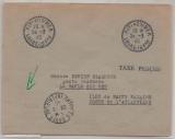 Dt. Bes. Frankreich, Saint Nazaire, 1945, Freistempel + Teilbarfrankatur auf Einschreiben, (II. Portoperiode), sehr selten!