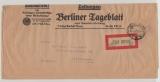 Infla / Dt. Lokalausgaben, 1923, Berlin C 2, Mi.- Nr.: 4, als EF auf Auslandsstreifband von Berlin nach Kopenhagen (DK)