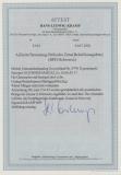 RPD Schwerin, 1945, 6 Rpfg.- GS (Mi.- Nr.: P791 II), gelaufen von Klütz via Schwerin nach Gadebusch, FA Kramp BPP, RRR!