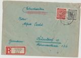 SBZ, Ost- Sachsen, Mi.- Nr.: 56 a L (4x, 1x vom ER!) in MiF auf E.- Fernbrief von Gottleuba nach Düsseldorf, FA Dr. Jasch BPP!