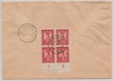 DDR, 1950, Mi.- Nr.: 244 DV (rs.), u.a. (vs.) in MiF auf Einschreiben- Nachnahme- Ortsbrief innerhalb von Berlin