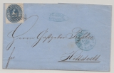 Braunschweig, 1866, Mi.- Nr.: 19 als EF auf Fernbrief von Braunschweig nach Hettstedt