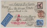 Zeppelin, 1933, Mi.- Nr.: 382 u.a. als MiF auf Brief, von Potsdam via Berlin, Friedrichshafen nach Montevideo (Urugay)