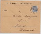 Germania, Reichspost, Mi.- Nr.: 57 als EF auf Auslandsbrief von Hamburg nach Odense (DK)