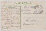 Feldpost, Mil. Miss. Konstantinopel, 1916, auf Postkarte nach Berlin