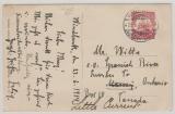 DSWA, 1914, Mi.- Nr.: 26 als EF auf Auslands-Foto- Ansichtskarte (Dt. Kamelkavallerie!) von Windhuk nach Ontario / Kanada