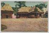 DR / Kamerun, 1910, Feldpost- Ansichtskarte (Häuser in Barnum, Kamerun), gelaufen von Wiesbaden nach Elberfeld