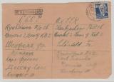 SBZ / DDR, 1951, SBZ- Mi.- Nr.: 226 ala EF auf Auslandsbrief von Dessau nach Kubischew (UDSSR), Kriegsgefangenenpost?