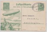 DR, 1912, Luftpostkarten- GS (Mi.- Nr.: SFP 1) gelaufen nach von FF/M, via Wiesbaden nach Oehringen