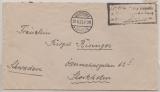 DR, Infla, 1923, Barfrankatur über 60.000 Mk., auf Auslandsbrief, von Osterode nach Stockholm. Seltener als man denkt!