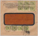 DR, Infla, 4.12.1923, Mi.- Nr.: 328 A (30 x) vs. + rs. auf Fensterbriefumschlag von B.- Charlottenburg  (vermutlich) in die Schweiz