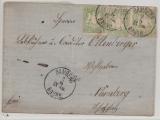Bayern, 1869, Mi.- Nr.: 22 (?), 3x, auf Fernbrief von Bamberg nach Nürnberg