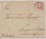 DOA, 1911, Mi.- Nr.: 32, als EF auf Fernbrief von Bahnpoststempel Usambara ... Zug 2..., nach Nowaves, Potsdam