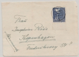 1948, Mi.- Nr.: 962 ZF (vom Ur) als EF (Zehnfachfrankatur West) auf Auslandsbrief von Kiel nach Kopenhagen!