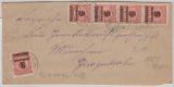 DR, Infla, 12.1923, Mi.-Nr.: 334 A (20 x), als MeF auf Fernbrief von Bad Dürkheim nach München (?), geprüft Infla!