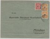 DR, Infla, 12.1923, Mi.-Nr.: 327 A (2x) + 340, als MiF auf Fernbrief von Gmünd nach München