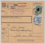 B + M, 1942, Mi.- Nr.: 104 u.a. als MiF auf Paketkartenstammteil, für ein Paket von Prag nach Zell am See