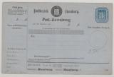 Hamburg, 3 Sh. Postanweisungsformular, Mi.- Nr.: 1, ungebraucht