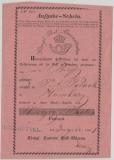 Hannover, 1861, Aufgabe- Schein, für einen Wertbrief nach Hamburg, mit schönem Vorphila- Einzeiler Ritzebüttel