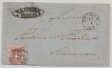 T.u.T., 1864 (?), Mi.- Nr.: 29 als EF auf Fernbrief von Weimar nach Ilmenau