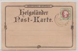 Helgoland, 1888 (?), Mi.- Nr.: 14 auf schöner Helgoland- Bildpostkarte, abgestempelt aber ungelaufen!
