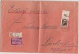 Bayern, 1919, Mi.- Nr.: 128 II A (vom OR) als EF auf Eilboten- Einschreiben- Fernbrief von München nach Reichenhall, gepr.