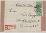 AM- Post, Deutsche Ausgabe, Mi.- Nr.: 31 (2x) als MeF auf Einschreiben- Fernbrief von Dortmund nach Schweinfurt