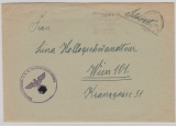 Dt. Feldpost, 1944, Fellpostbrief eines Angehörigen der Standortkompanie z.b.V, in Garmisch- Parthenkirchen, nach Wien