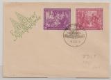 DDR, 1950, Mi.- Nr.: 248- 49, als kpl. Satz auf FDC, nicht gelaufen