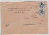 37 Neustadt- Glewe, 12 Pfg. Arbeiter mit Überdruck, als MeF auf Fernbrief nach Parchim